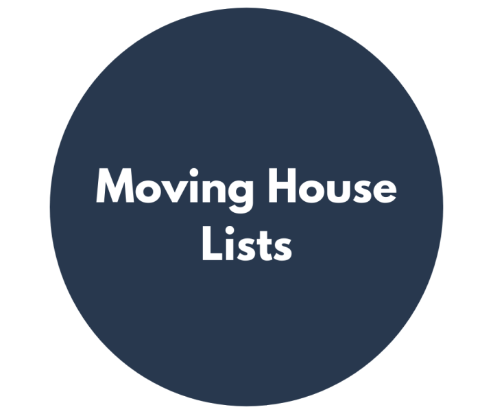 Moving House Lists